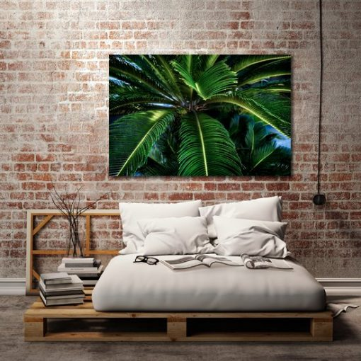 obraz z zieloną palmą