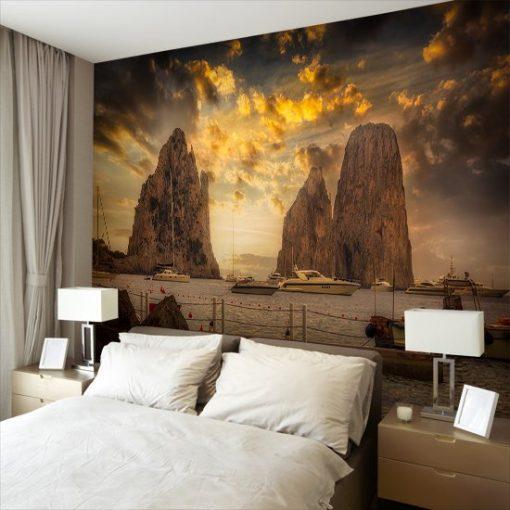 tapeta z wybrzeżem Capri