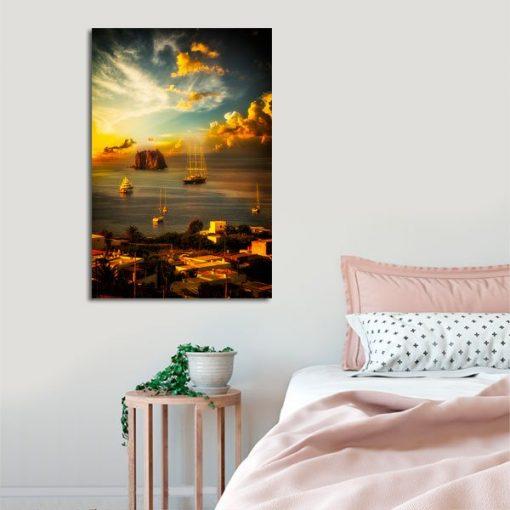 sypialniany obraz z Sycylią