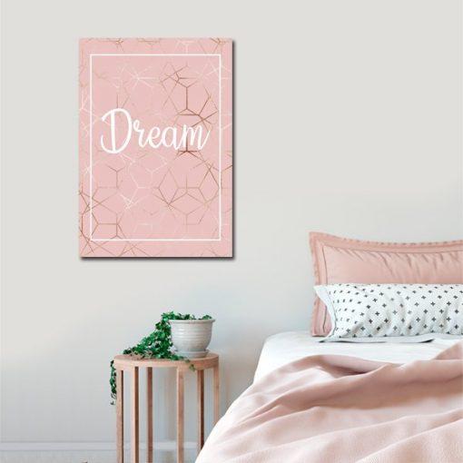 plakat pionowy z napisem dream