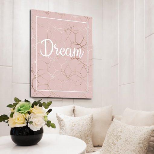 pojedynczy plakat z napisem dream
