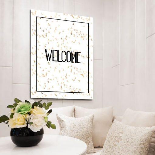 plakat do domu z napisem welcome