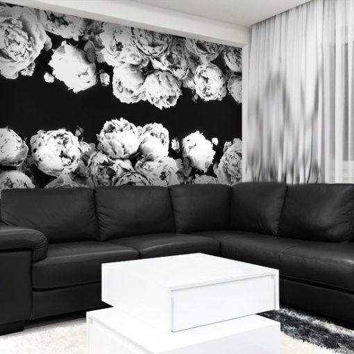 czarne tło tapety z kwiatami