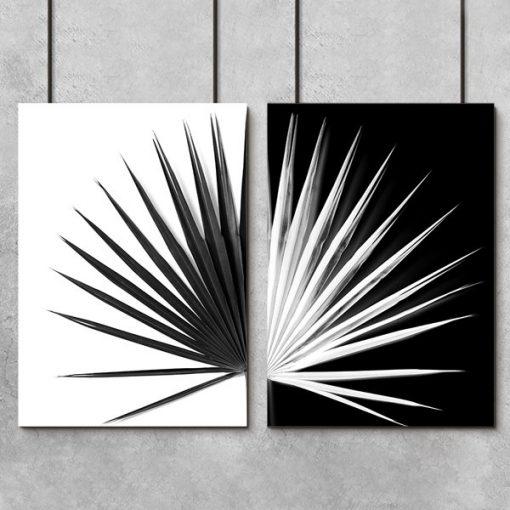 liść palmy jako dyptyk na plakacie