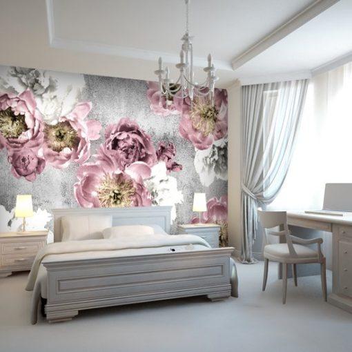 sypialniana ozdoba w formie tapety