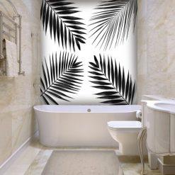liście palmy w toalecie