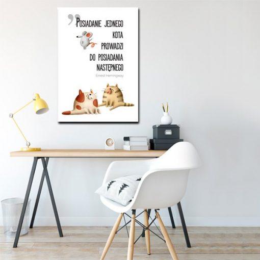 cytat Hemingway na plakacie