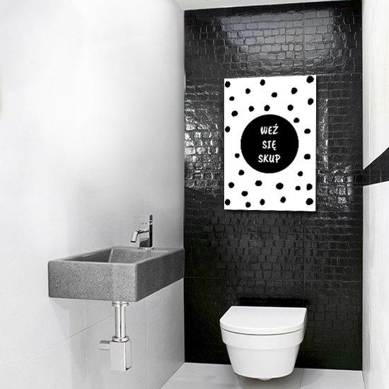 plakat czarno-biały jako napis