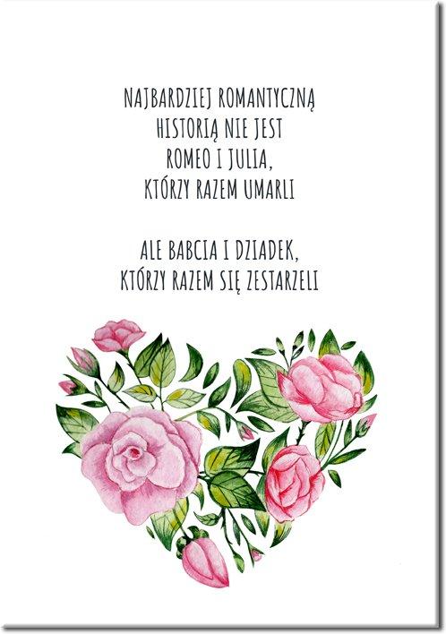 plakat o romantyczności z dziadkiem i babcią