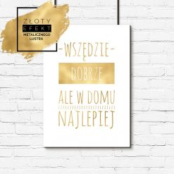 Złoty plakat sentencja o domu