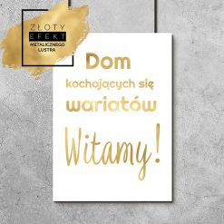 Złoty plakat dom