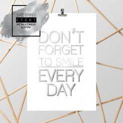 Srebrny plakat uśmiech