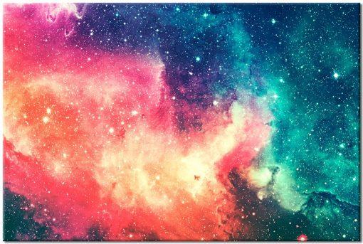kolorowy kosmos na obaraziie przepięknym