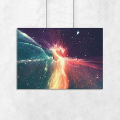 abstrakcja kosmiczna jako plakat