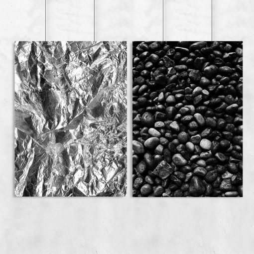 kamienie i sreberko na dyptyku