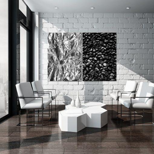 czarno-biała dekoracja ścienna