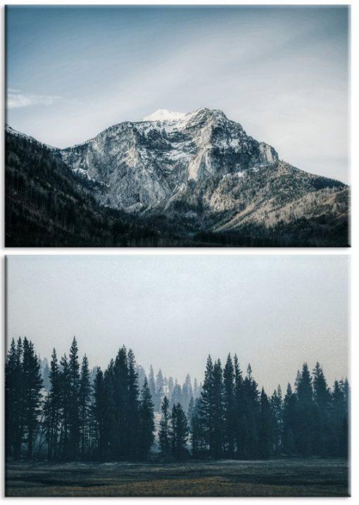 góry i las jako dyptyk