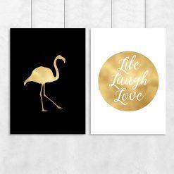 flaming złoty na plakacie