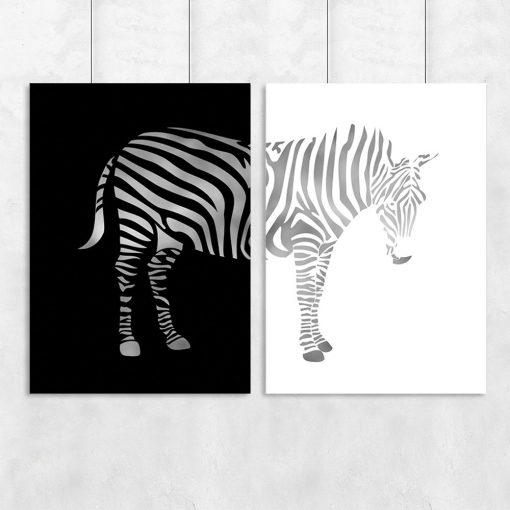 dyptyk z zebrą