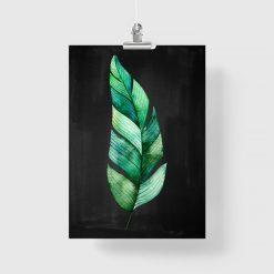 plakaty zielonymi listkami