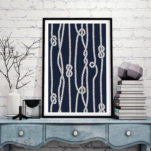 plakaty z sznurami