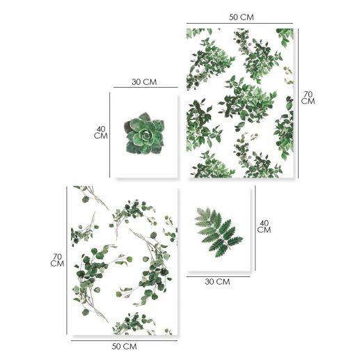 plakaty z tropikalnymi roślinami