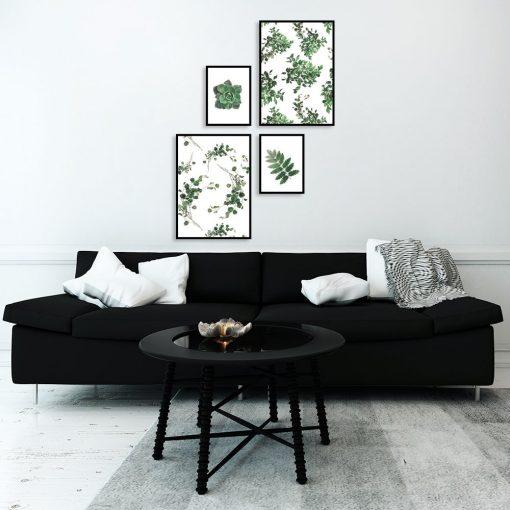 plakaty z roślinami do salonu
