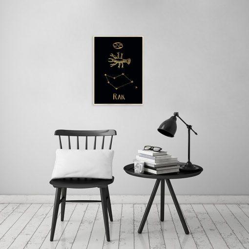 złota dekoracja do salonu