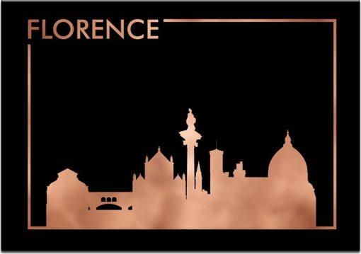 plakat z motywem miasta Florencji