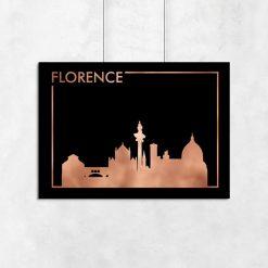 poziomy plakat z motywem miasta Florencji