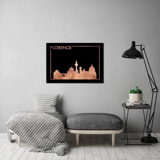 miedziane miasto na plakacie