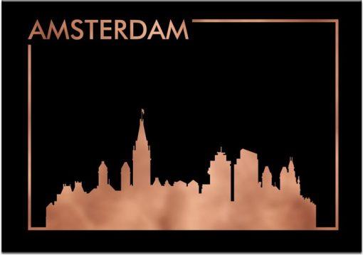 Amsterdam na plakacie miedzianym