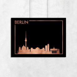 miedziany plakat z motywem Berlina metalicznego