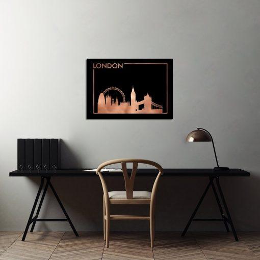 miedziany Londyn jako dekoracja na plakacie