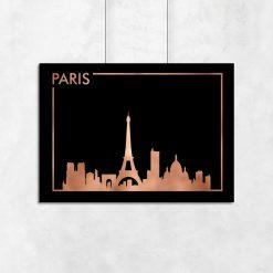 miedziany plakat z motywem Paryża