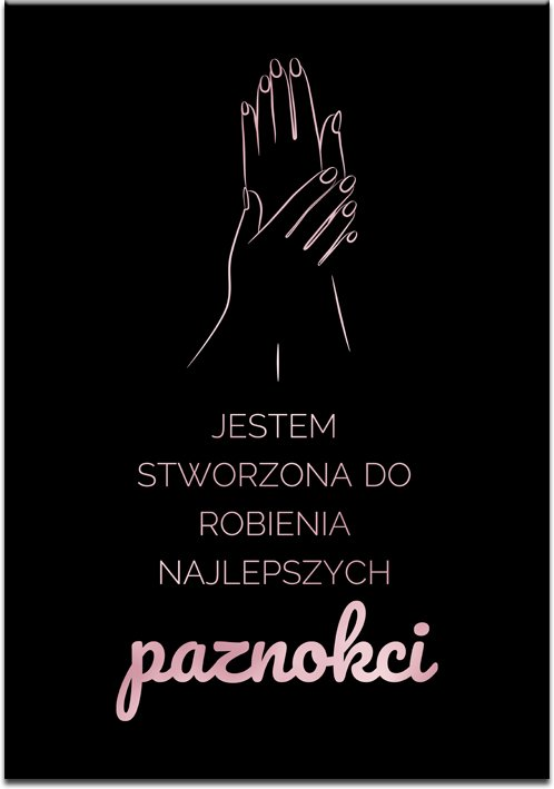metaliczny plakat czarno-różowy