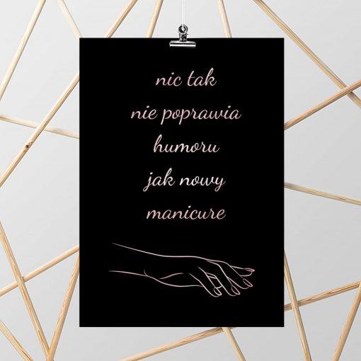 czarno-różowy plakat metaliczny