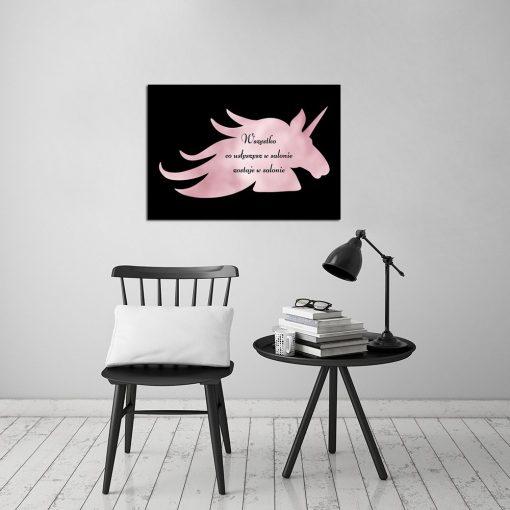zabawny plakat rose gold