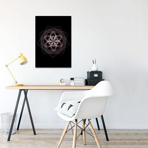 mandala jako wzór na plakacie