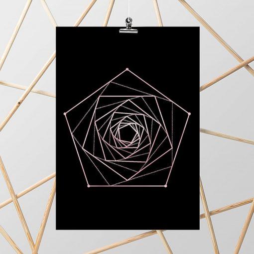 rose gold plakat