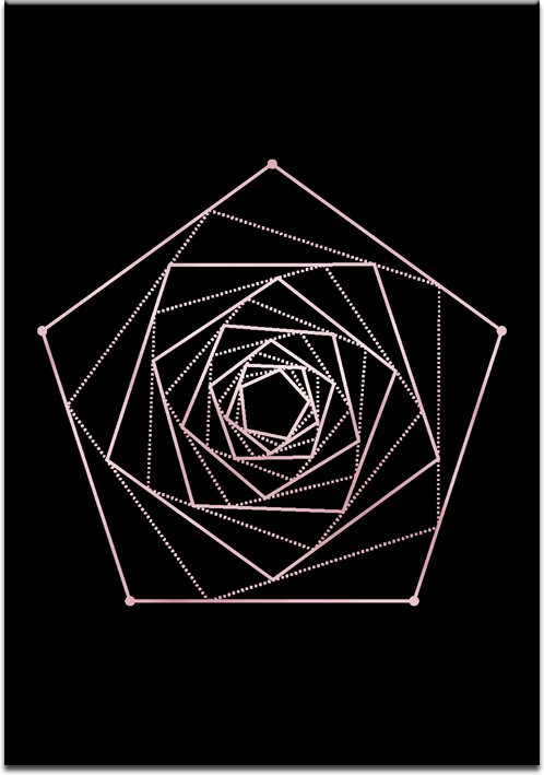 wzór rose gold z czarnym tłem