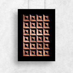 plakat z metaliczna folią