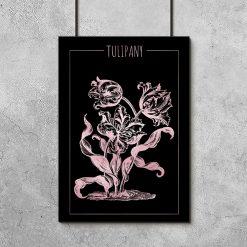 plakaty z tulipanami