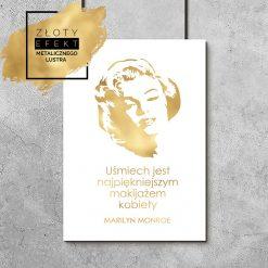 Plakat złoty z Marylin Monroe