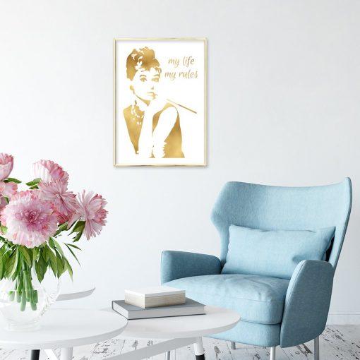 plakat z Audrey