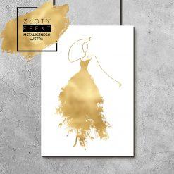 Złoty plakat z kobietą