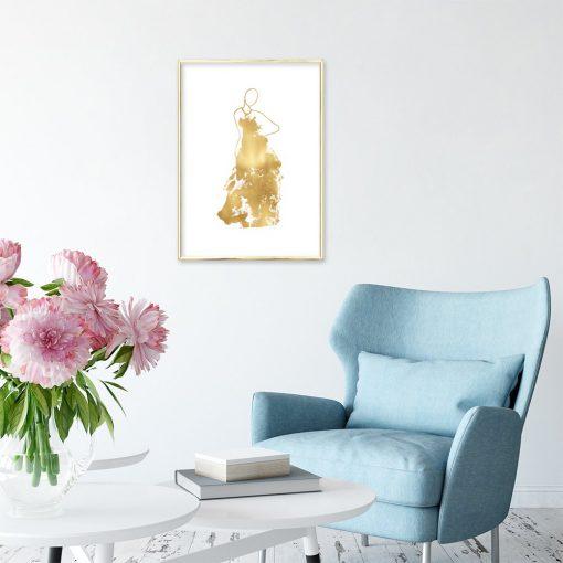 dekoracje z e złotem