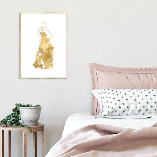 dekoracje ze złotem