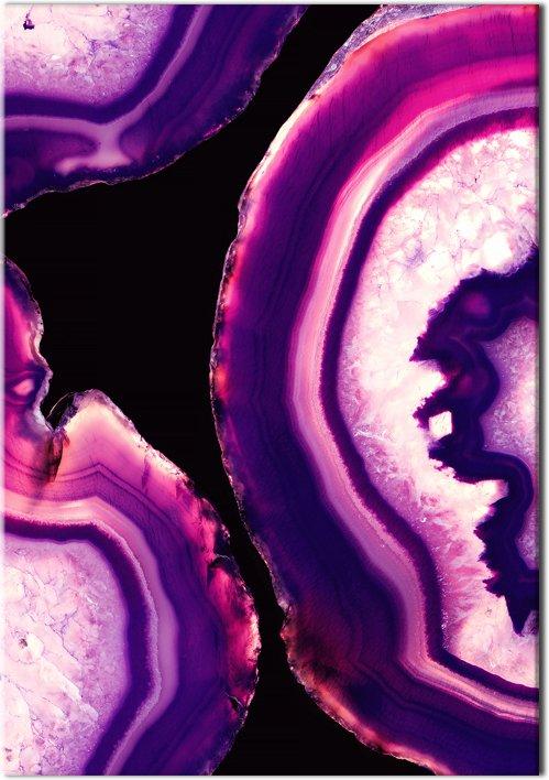 plakat z kryształkami agatu
