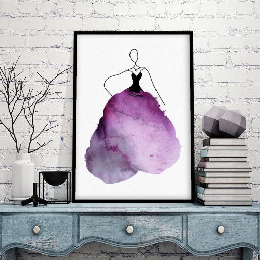plakat z kobieta w sukni